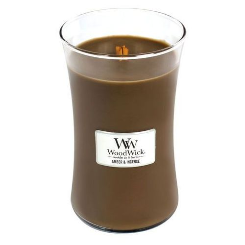 Woodwick - świeca duża amber & incense 175h