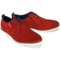 BUGATTI 311-91901-1400 3000 red, półbuty męskie, kolor czerwony