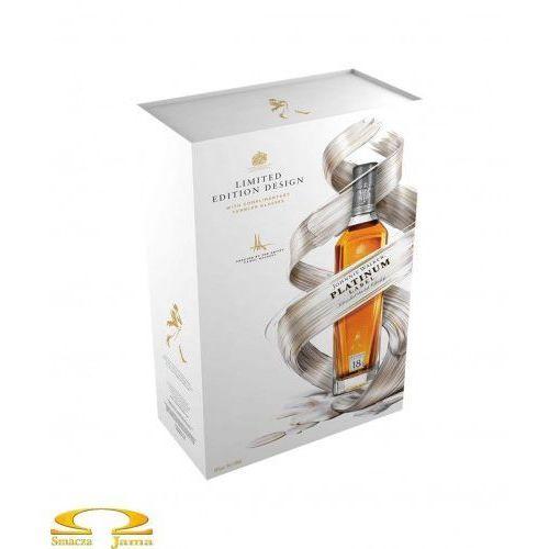 Johnnie walker Whisky platinum label 0,7l limitowana edycja + 2 szklanki