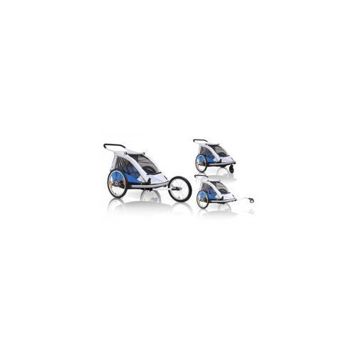 Xlc Przyczepka rowerowa dla dzieci bs c03 duo2, 3w1 wózek buggy + jogger niebieska