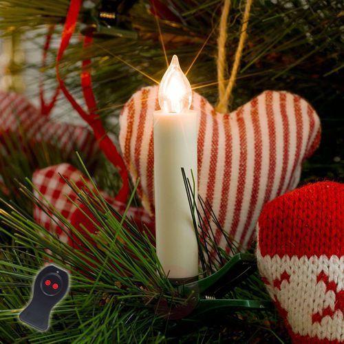 Świeczki choinkowe led na baterie, białe, 10-pkt. marki Konstmide christmas