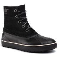 Śniegowce - cheyanne metro lace wp nm3454 black/black 010 marki Sorel