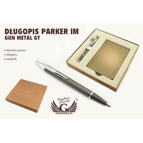 Długopis PARKER IM Gun Metal CT z notesem Parker