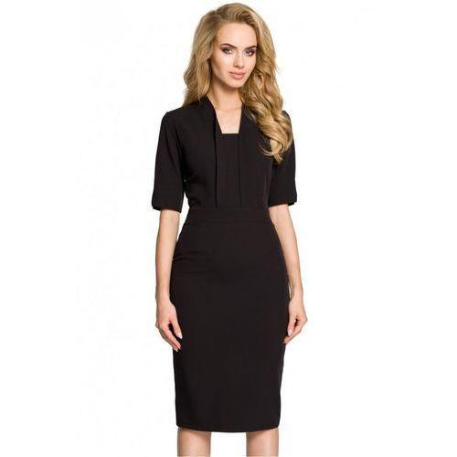 Sukienka Model MOE310 Black, kolor czarny