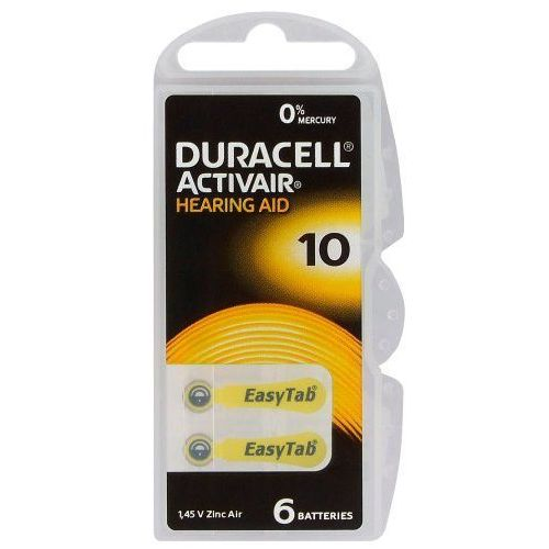 Duracell 6 x baterie do aparatów słuchowych activair 10 mf