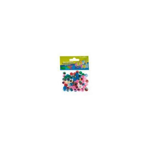 Ozdoba dekoracyjna kolorowe oczy 12mm 80el (5907604658604)