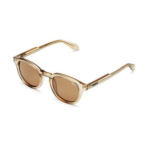 Okulary Słoneczne Quay Australia QM-000315 WALK ON TOFF/BRN, kolor żółty