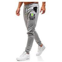 Spodnie męskie dresowe joggery szare denley kk526, J.style