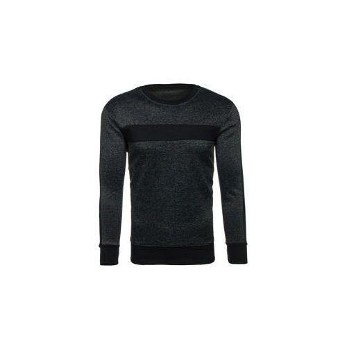 Bluza męska bez kaptura czarna Denley DD29, kolor czarny