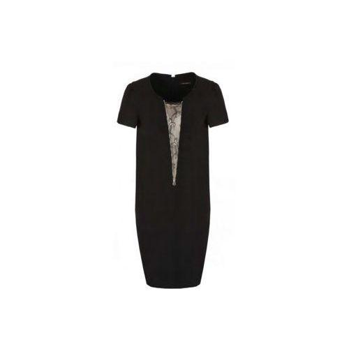 Sukienka z koronkową wstawką (Kolor: czarny, Rozmiar: 44)