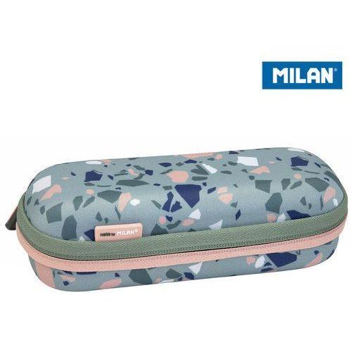 Milan Piórnik owalny usztywniany terrazzo green eco zieolo-różowy (8411574084518)