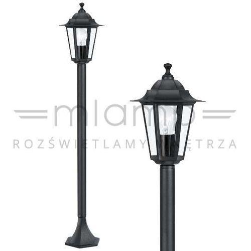 Zewnętrzna LAMPA stojąca LATERNA 4 22144 Eglo klasyczna OPRAWA ogrodowa słupek IP44 outdoor czarny
