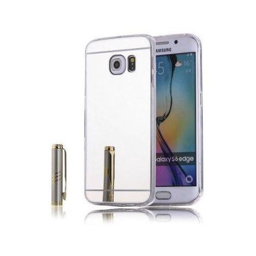 Slim mirror  case srebrny | etui dla samsung galaxy s6 edge - srebrny