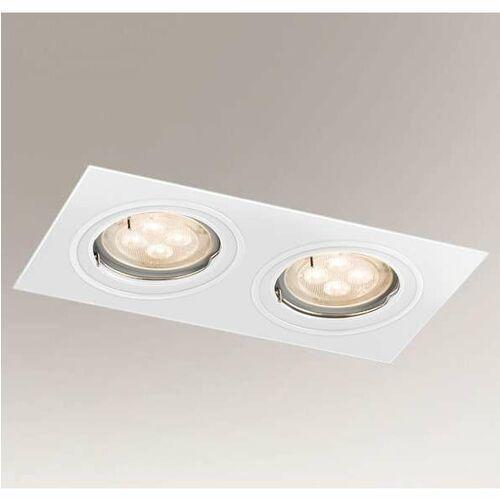 Shilo Wpuszczana lampa sufitowa omura 7309 podtynkowa oprawa prostokątna wpust biały