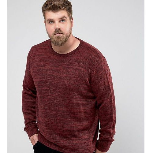 Another influence plus melange slouchy knit jumper - red