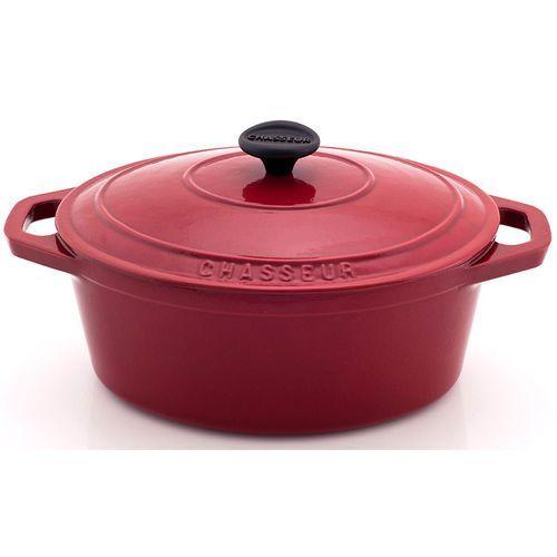 Garnek żeliwny emaliowany owalny Chasseur Classic 3,6L wiśniowy (3727-03), kolor czerwony