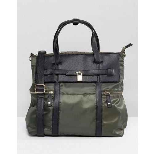 Yoki Tote Bag With Pocket Detailing - Black, kolor czarny