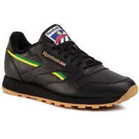 Buty Reebok - Cl Leather Mu EG6423 Black/Basgrn/Heryel, kolor czarny