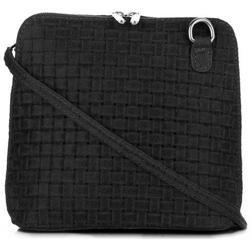 Mała włoska torebka skórzana listonoszka firmy czarna (kolory) marki Genuine leather