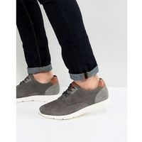 suede casual lace ups in grey - grey, Pier one