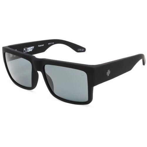 Spy Okulary słoneczne cyrus polarized soft matte black - happy gray green polar