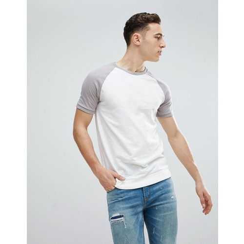 River Island Raglan T-Shirt In Ecru - Cream, w 5 rozmiarach