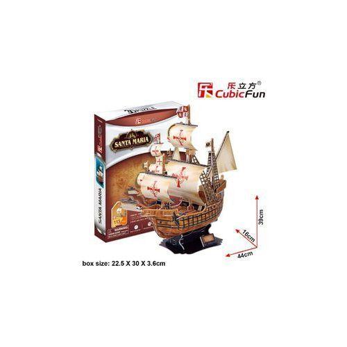 Cubic Fun, Żaglowiec Santa Maria, puzzle 3D, 38 elementów