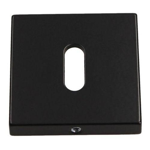 Szyld drzwiowy kwadratowy na klucz czarny matowy marki Gamet