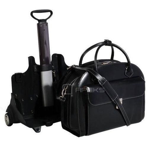 """McKlein Glen Ellyn torba damska z naturalnej skóry na laptopa 15,6"""" - czarny, kolor czarny"""