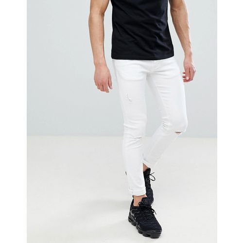 River Island Skinny Jeans With Rips In White - White, kolor biały