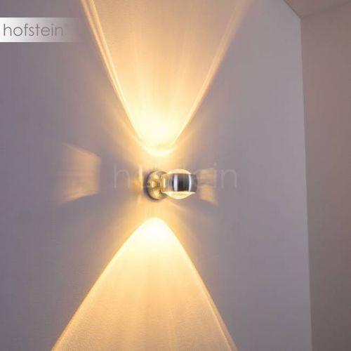 Hofstein Sapri lampa ścienna srebrny, 1-punktowy - lokum dla młodych/loft - obszar wewnętrzny - sapri - czas dostawy: od 3-6 dni roboczych