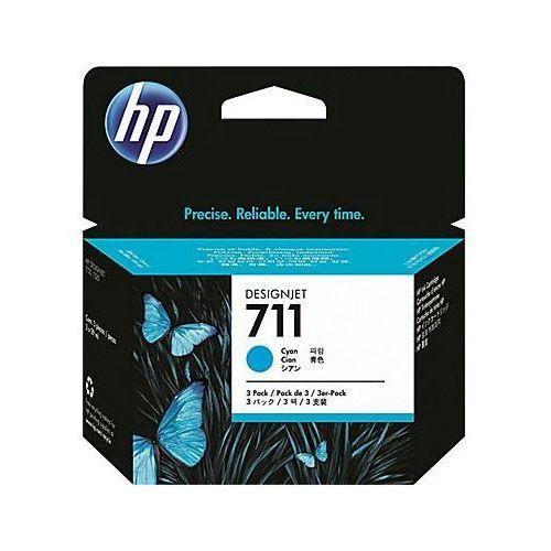Hewlett-packard (hp) Tusze oryginalne hp 711 (cz134a) (błękitne) (trójpak) - darmowa dostawa w 24h