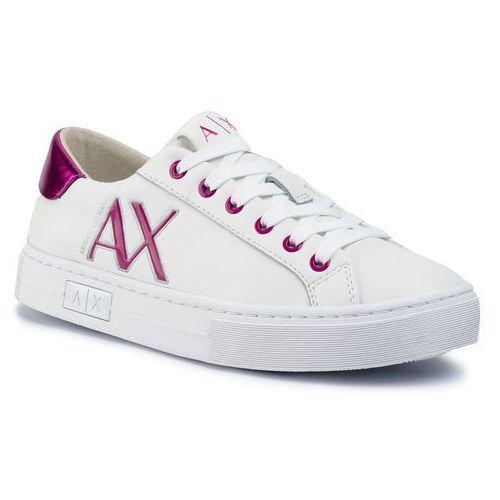 Sneakersy ARMANI EXCHANGE - XDX027 XV302 D908 Opt Wht/Fuchsia, kolor biały