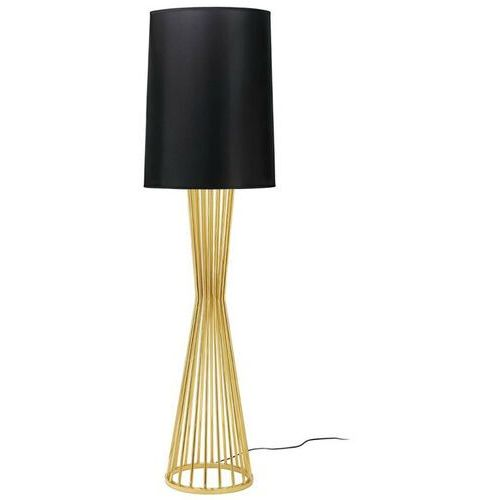 Lampa podłogowa holmes złota z czarnym kloszem - metal marki Sofa.pl