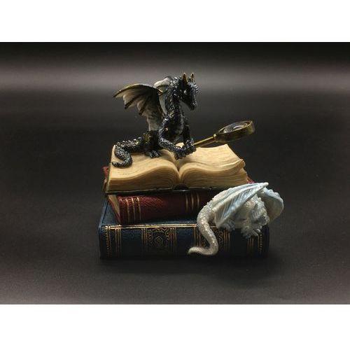 Veronese Szkatułka smok z lupą na książkach (wu77103aa)