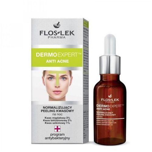 dermoexpert anti acne normalizujący peeling kwasowy na noc 30ml marki Floslek