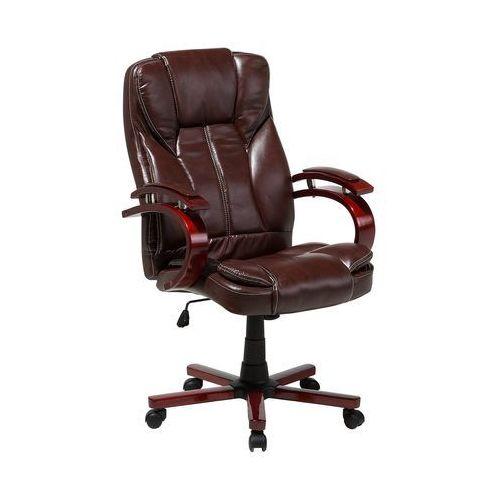 Krzesło biurowe brązowe regulowana wysokość CORPORAL