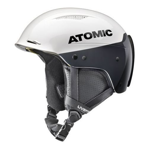 Atomic, dla kobiet/mężczyzn Slalom kask, przygotowany do wyścigów, indvi indywidualne dopasowanie, redster LF SL, biały