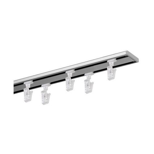 Szyna sufitowa 2-torowa SLIM 200 cm srebrna aluminiowa MARDOM (5902166886533)