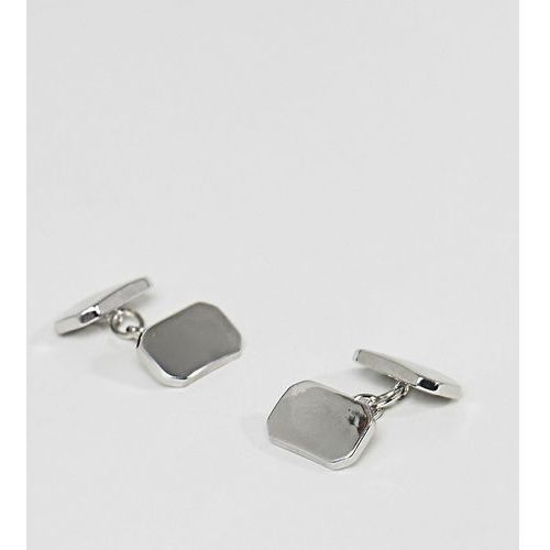 DesignB Rectangle Cufflinks In Silver Exclusive To ASOS - Silver