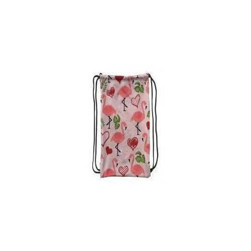 Worek szkolny plecak WR131 Flamingi liście MESIO