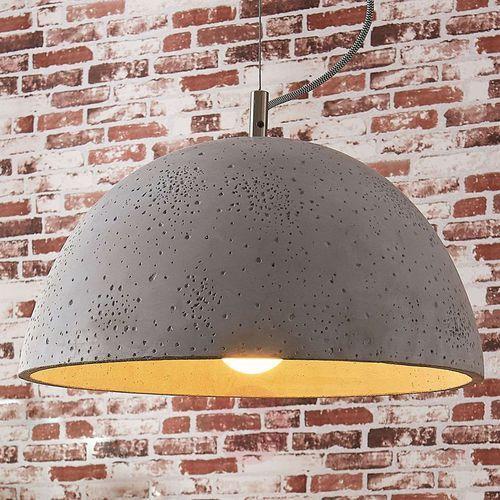 Lampa wisząca Jelin z betonowym kloszem