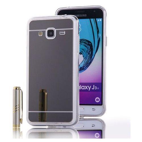 Slim Mirror Case Szary | Etui dla Samsung Galaxy J3 2016 - Szary, kolor szary