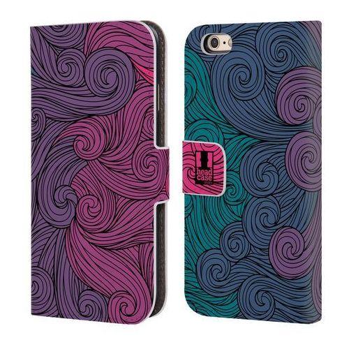 Etui portfel na telefon - Vivid Swirls Hot Pink To Teal, kolor różowy