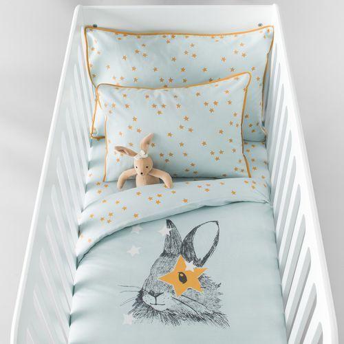 R baby Poszwa dziecięca lapin z bawełny z nadrukiem.