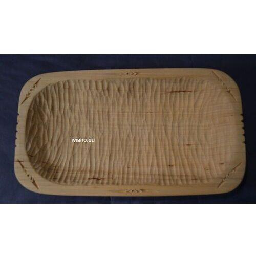 Miska karpacka, drewniana, rzeźbiona 24x13,5 cm (ag-5) marki Twórca ludowy