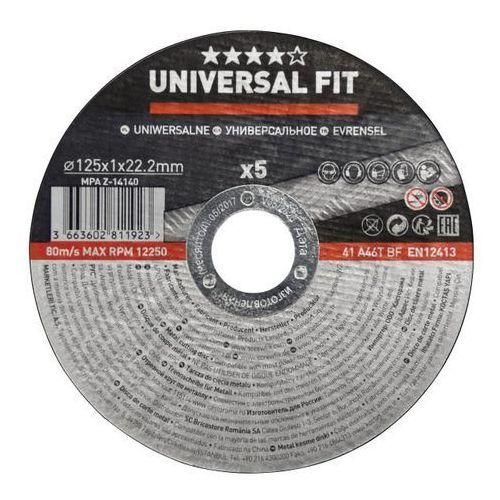Zestaw tarcz do cięcia metalu 125 x 1 mm 5 szt. marki Universal