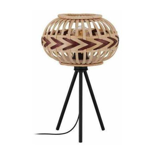 Eglo Dondarrion 43274 lampa stołowa lampka 1x40W E27 drewno