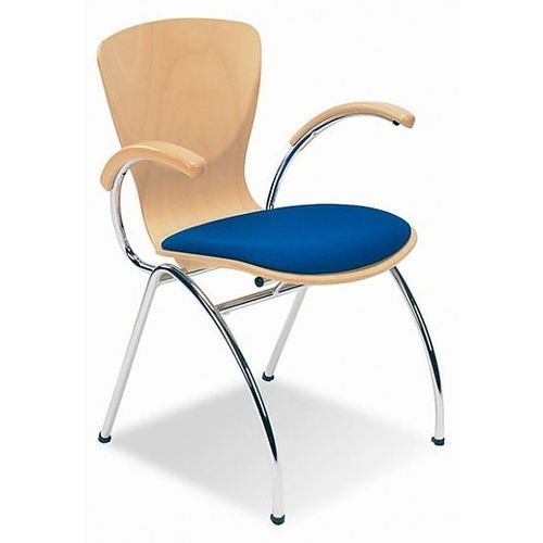Krzesło bingo arm wood seat plus marki Nowy styl