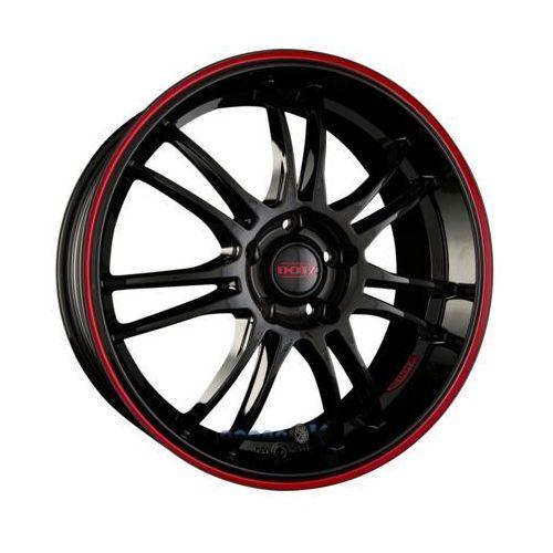 DOTZ SHIFT PINSTRIPE RED Black Pinstripe Red Einteilig 8.00 x 19 ET 45